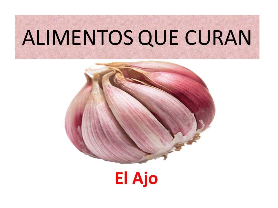 ALIMENTOS QUE CURAN El Ajo