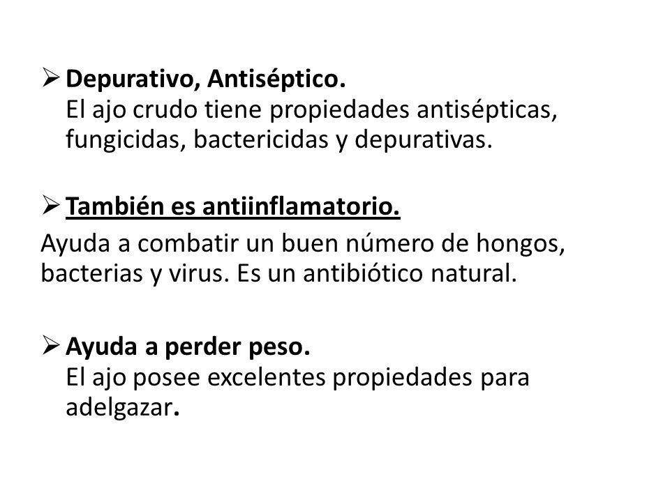 Depurativo, Antiséptico