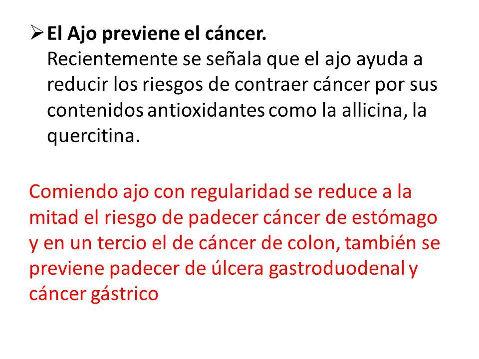 El Ajo previene el cáncer