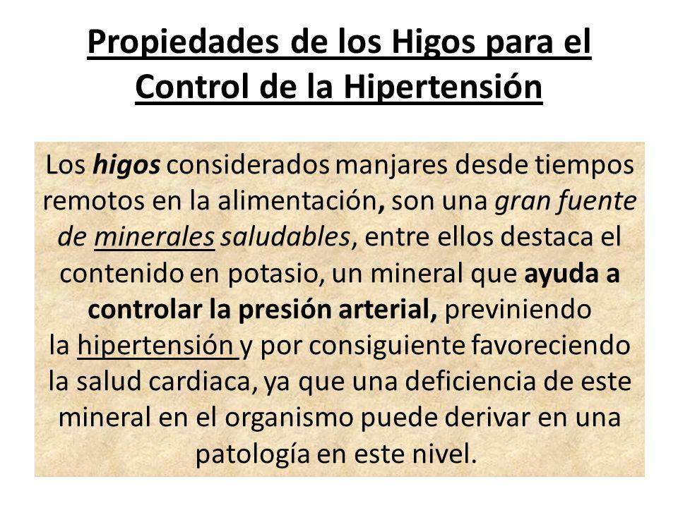 Propiedades de los Higos para el Control de la Hipertensión