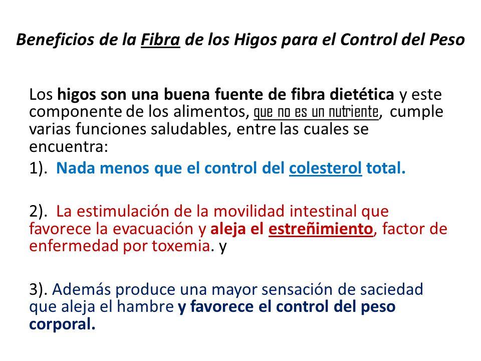 Beneficios de la Fibra de los Higos para el Control del Peso