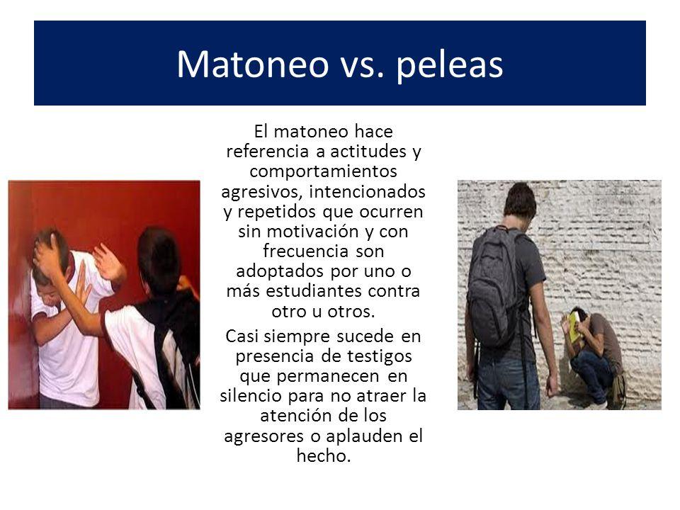 Matoneo vs. peleas