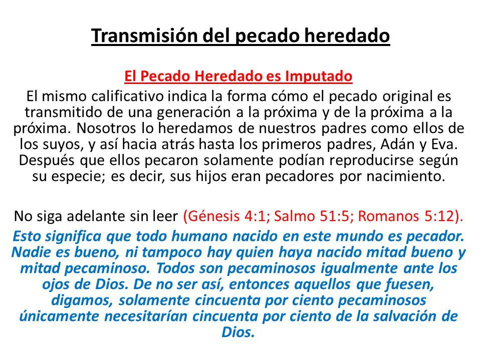 Transmisión del pecado heredado
