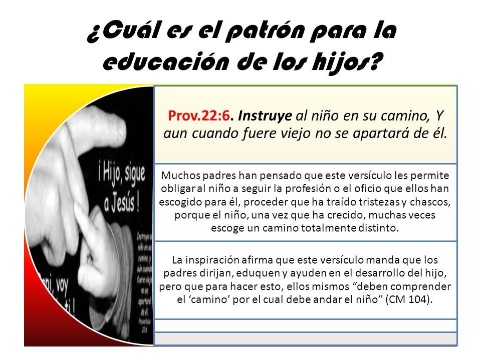 ¿Cuál es el patrón para la educación de los hijos