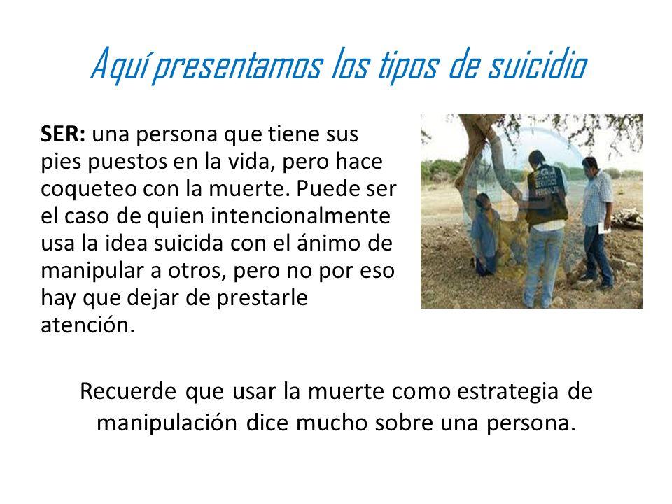 Aquí presentamos los tipos de suicidio
