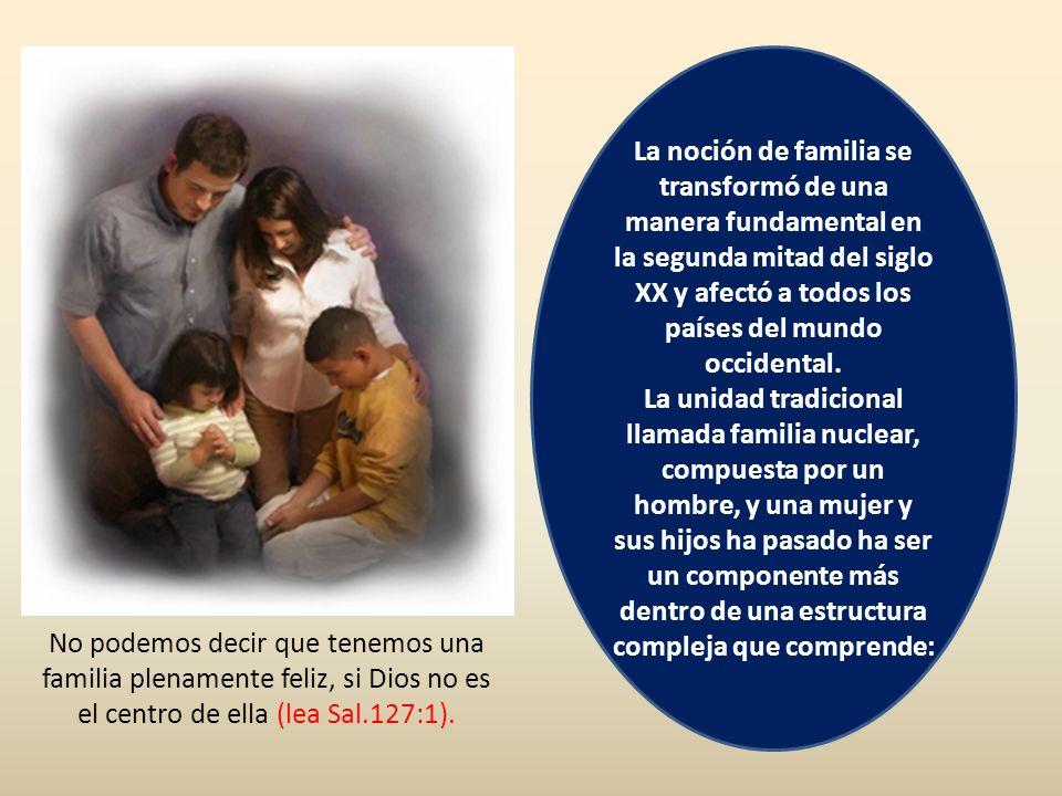 La noción de familia se transformó de una manera fundamental en la segunda mitad del siglo XX y afectó a todos los países del mundo occidental.