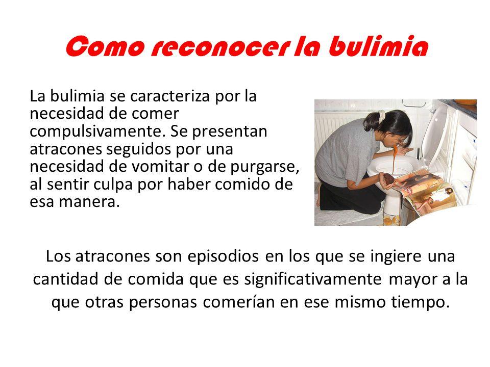 Como reconocer la bulimia