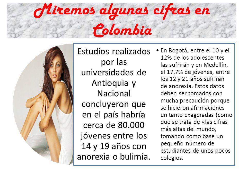 Miremos algunas cifras en Colombia