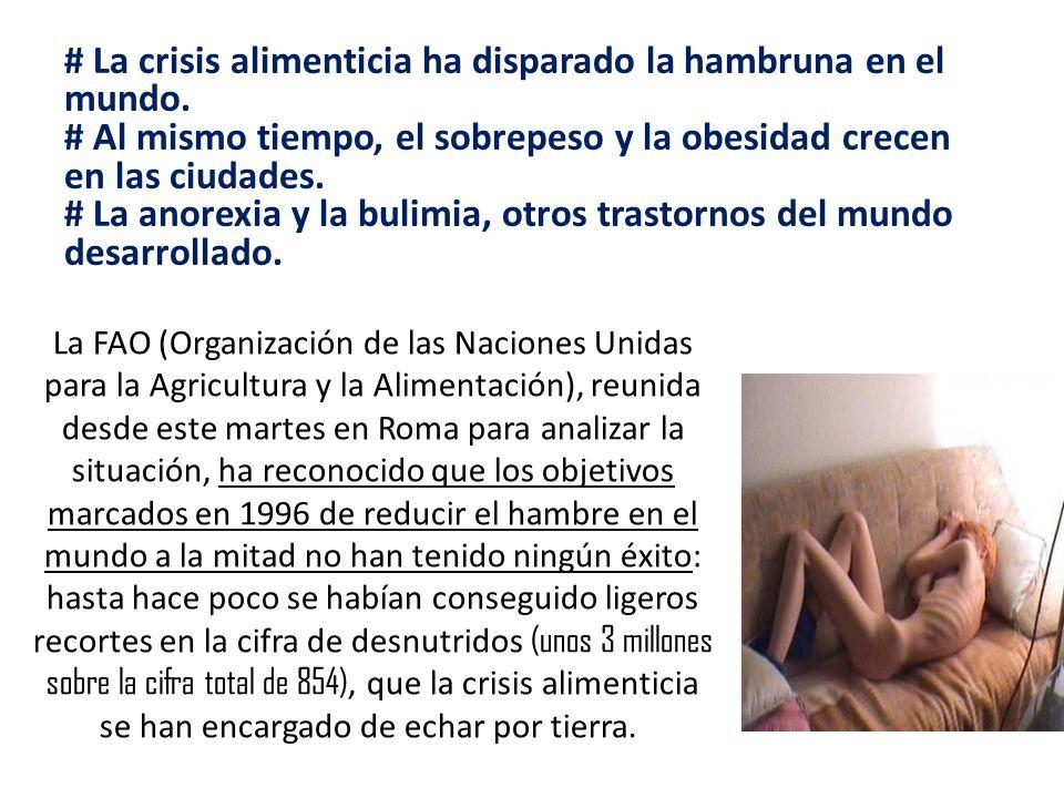 # La crisis alimenticia ha disparado la hambruna en el mundo