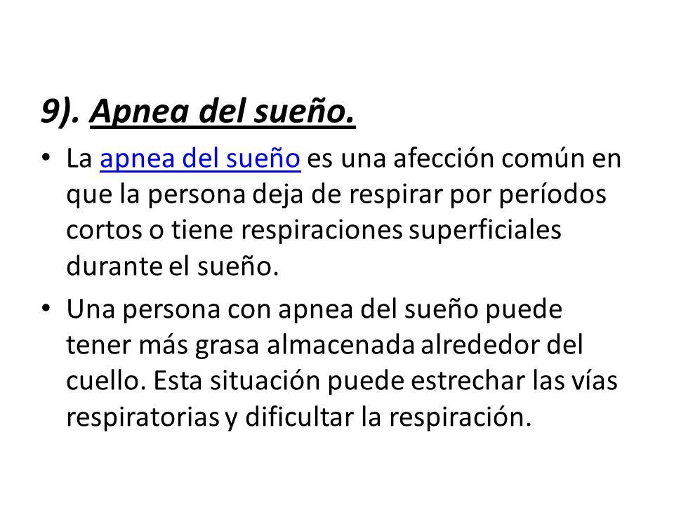 9). Apnea del sueño.