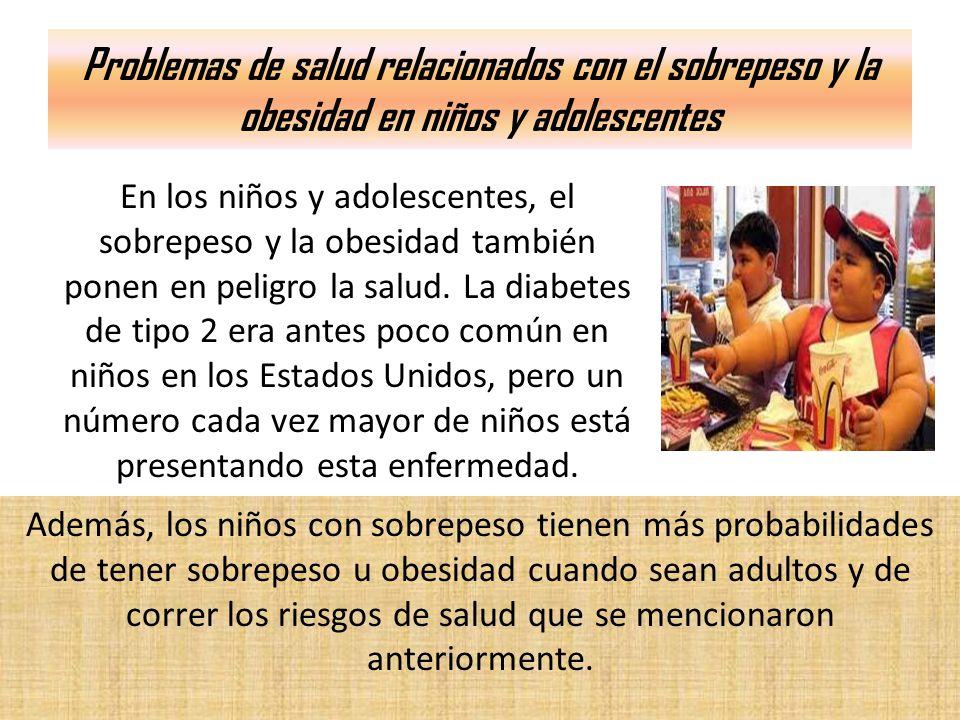 Problemas de salud relacionados con el sobrepeso y la obesidad en niños y adolescentes