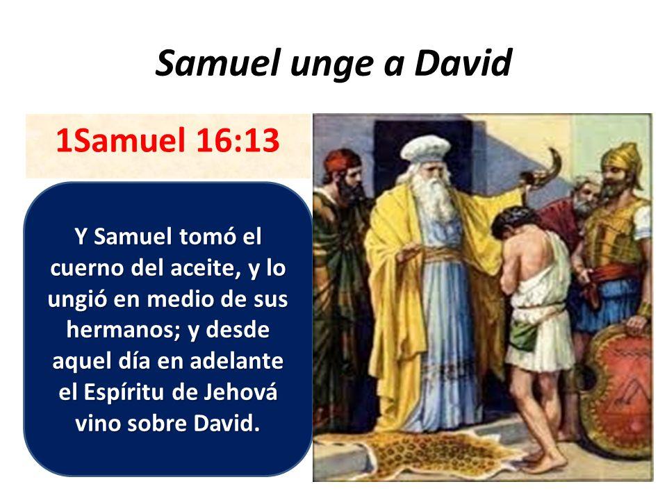 Samuel unge a David 1Samuel 16:13