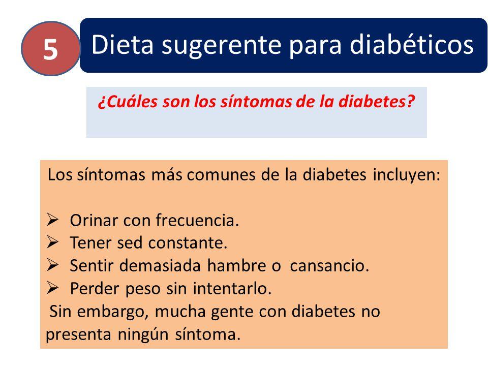 ¿Cuáles son los síntomas de la diabetes