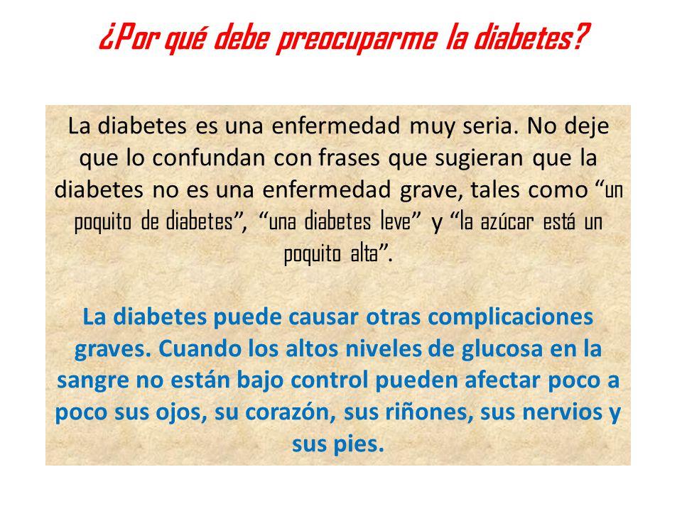 ¿Por qué debe preocuparme la diabetes