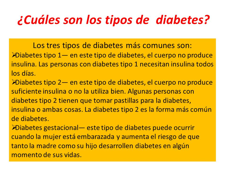 ¿Cuáles son los tipos de diabetes