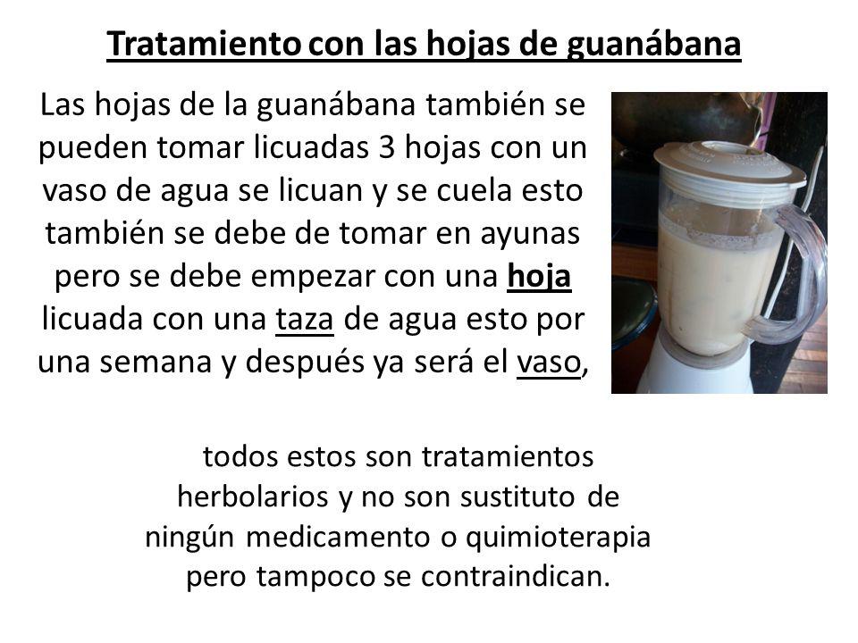Tratamiento con las hojas de guanábana
