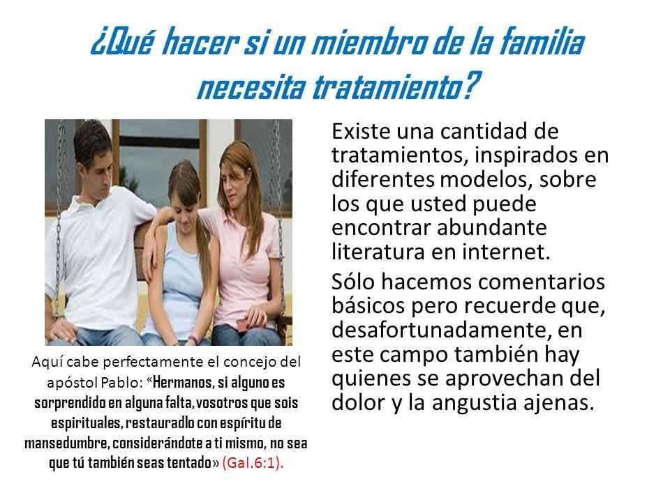 ¿Qué hacer si un miembro de la familia necesita tratamiento