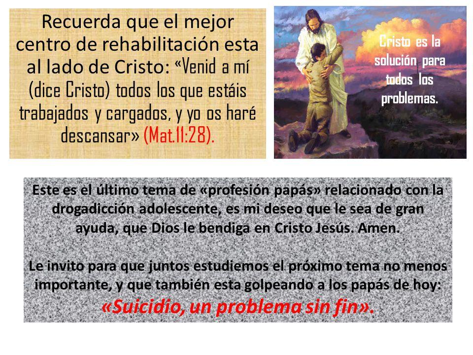 Cristo es la solución para todos los problemas.
