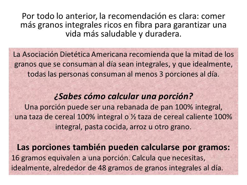 ¿Sabes cómo calcular una porción