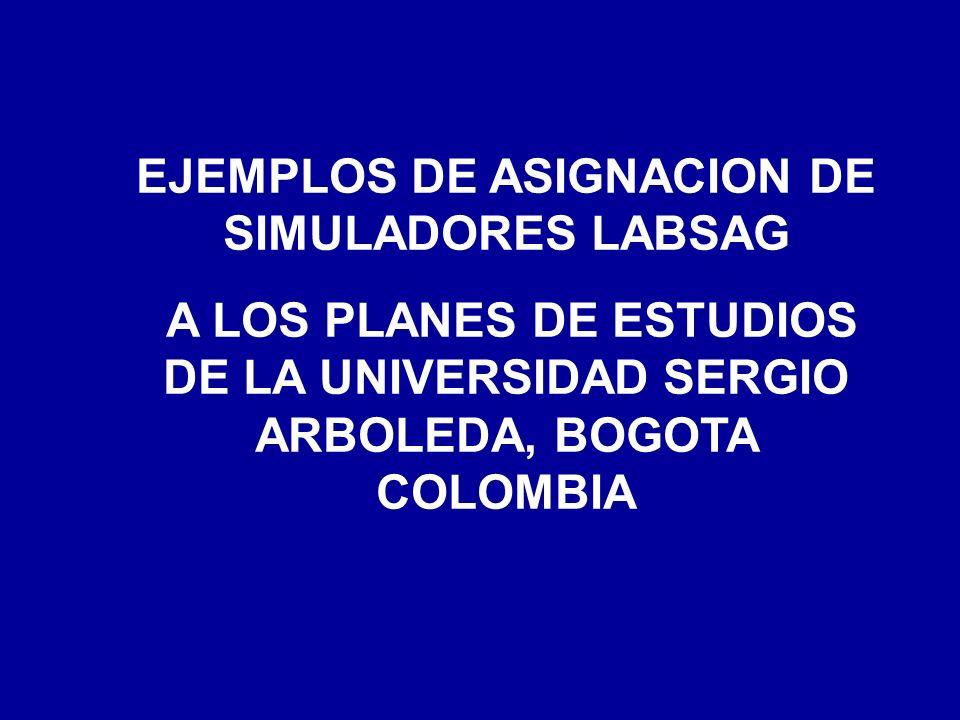 EJEMPLOS DE ASIGNACION DE SIMULADORES LABSAG