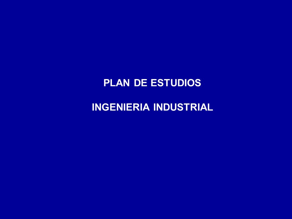 INGENIERIA INDUSTRIAL