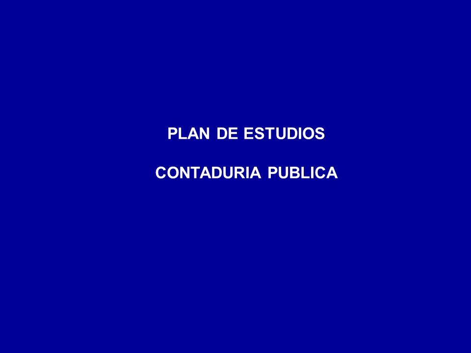 PLAN DE ESTUDIOS CONTADURIA PUBLICA