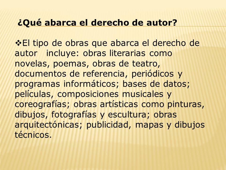 ¿Qué abarca el derecho de autor