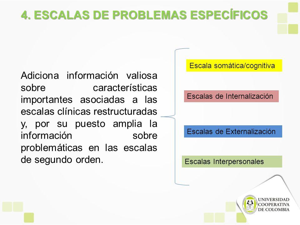 4. ESCALAS DE PROBLEMAS ESPECÍFICOS