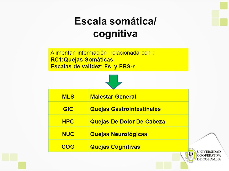 Escala somática/ cognitiva