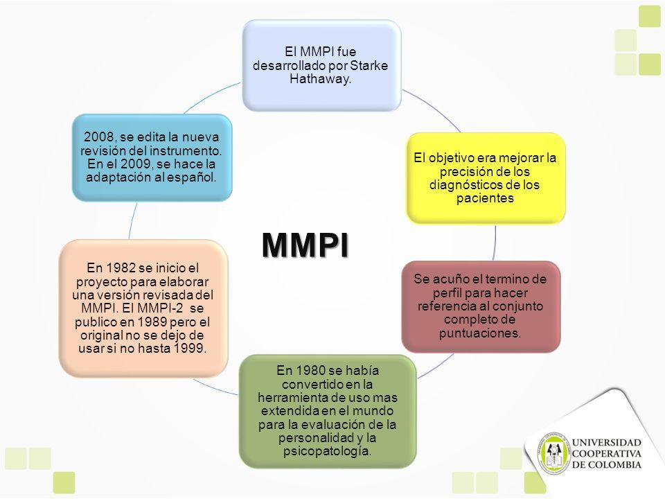 El MMPI fue desarrollado por Starke Hathaway.