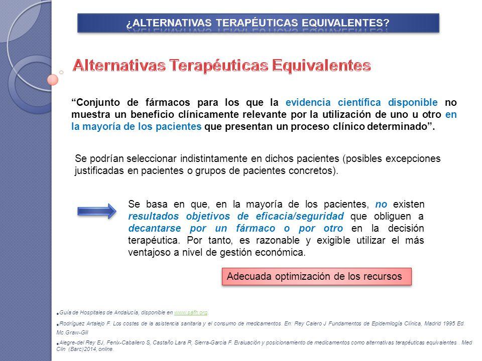 ¿ALTERNATIVAS TERAPÉUTICAS EQUIVALENTES