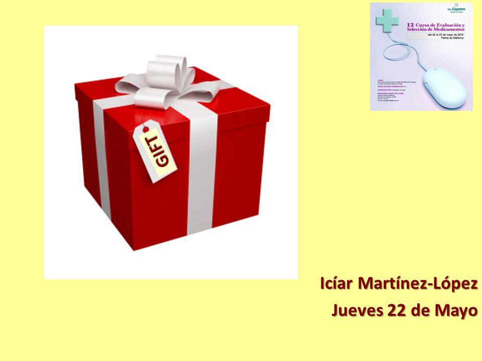 Icíar Martínez-López Jueves 22 de Mayo