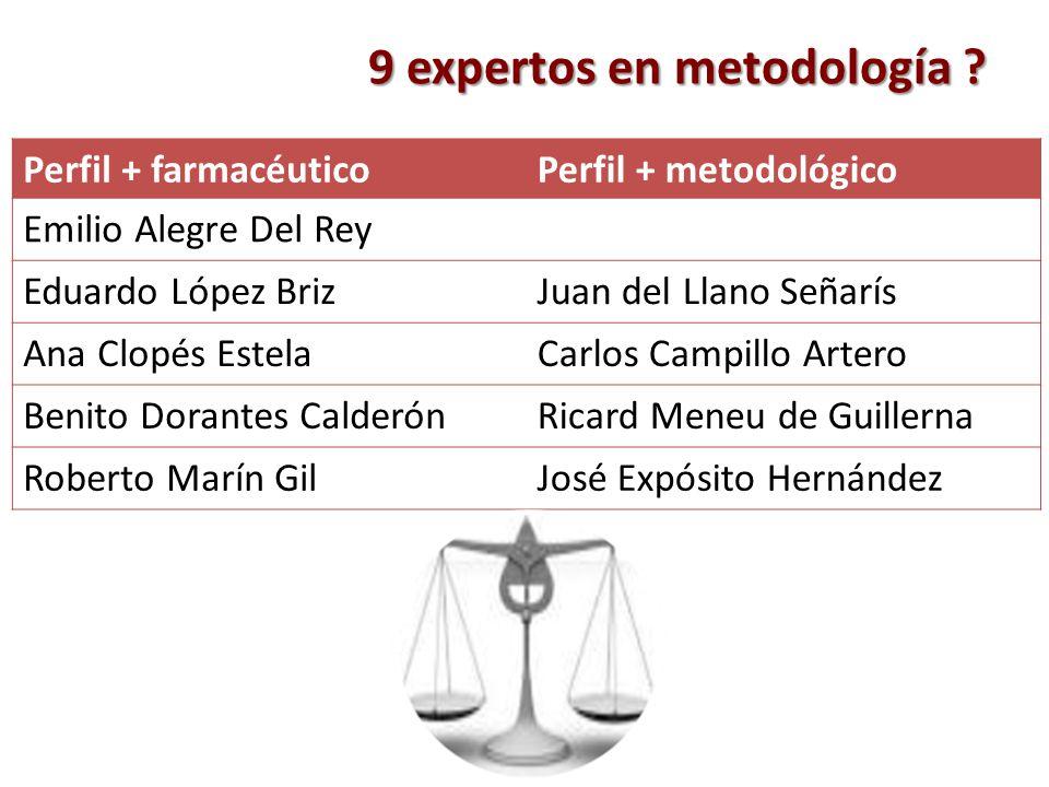 9 expertos en metodología