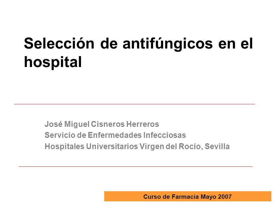 Selección de antifúngicos en el hospital