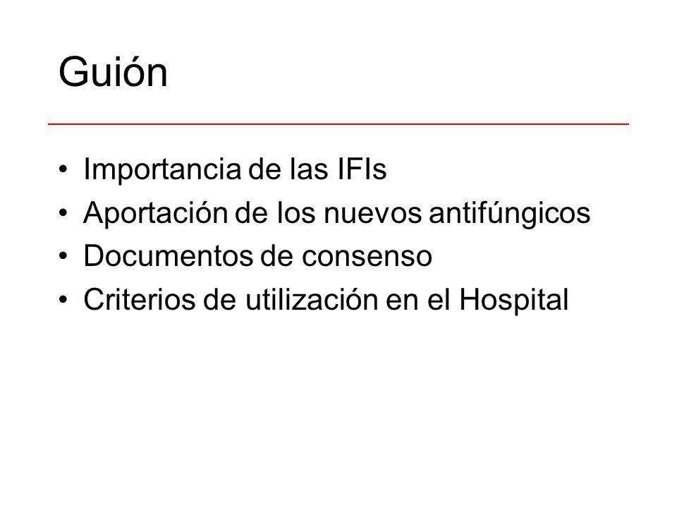 Guión Importancia de las IFIs Aportación de los nuevos antifúngicos