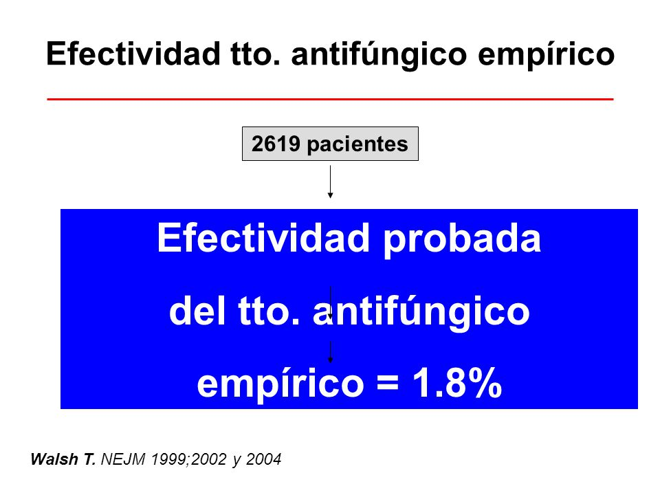 Efectividad tto. antifúngico empírico