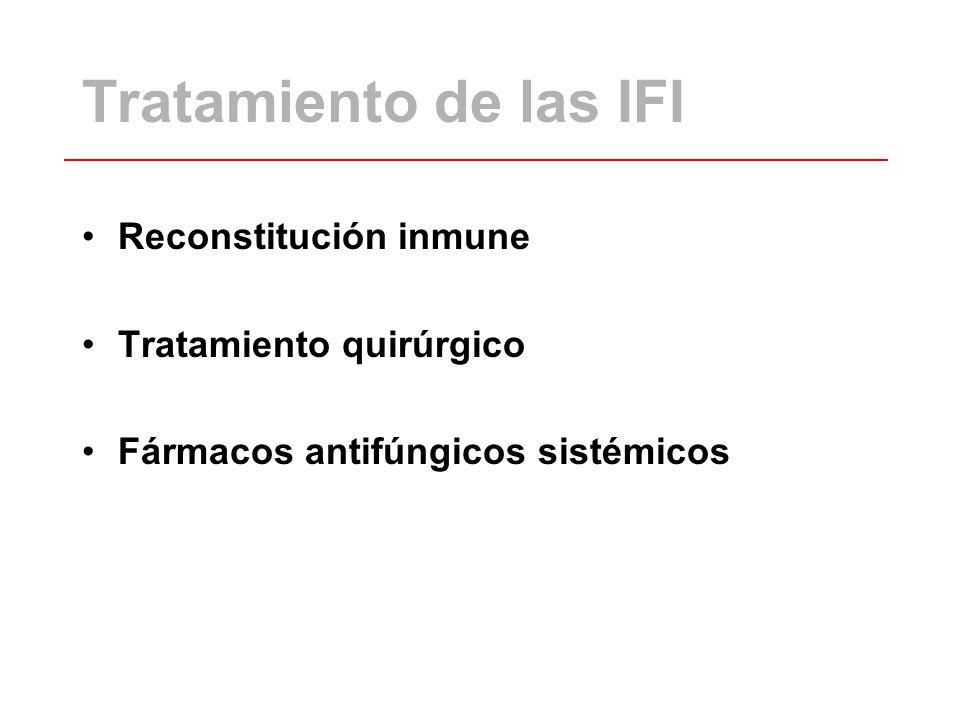 Tratamiento de las IFI Reconstitución inmune Tratamiento quirúrgico