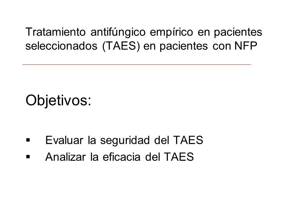 Tratamiento antifúngico empírico en pacientes seleccionados (TAES) en pacientes con NFP