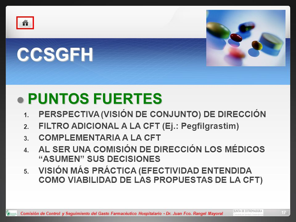 CCSGFH PUNTOS FUERTES PERSPECTIVA (VISIÓN DE CONJUNTO) DE DIRECCIÓN