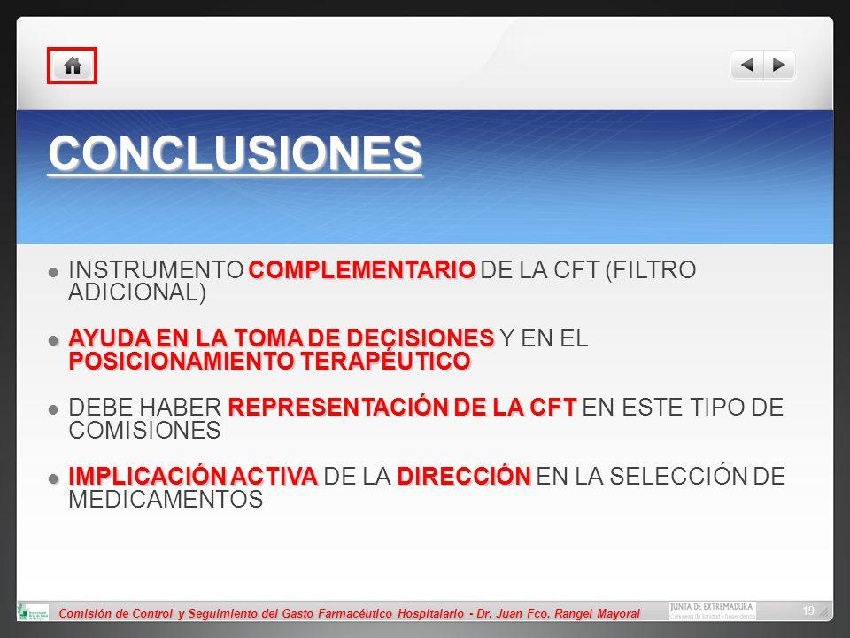 CONCLUSIONES INSTRUMENTO COMPLEMENTARIO DE LA CFT (FILTRO ADICIONAL)