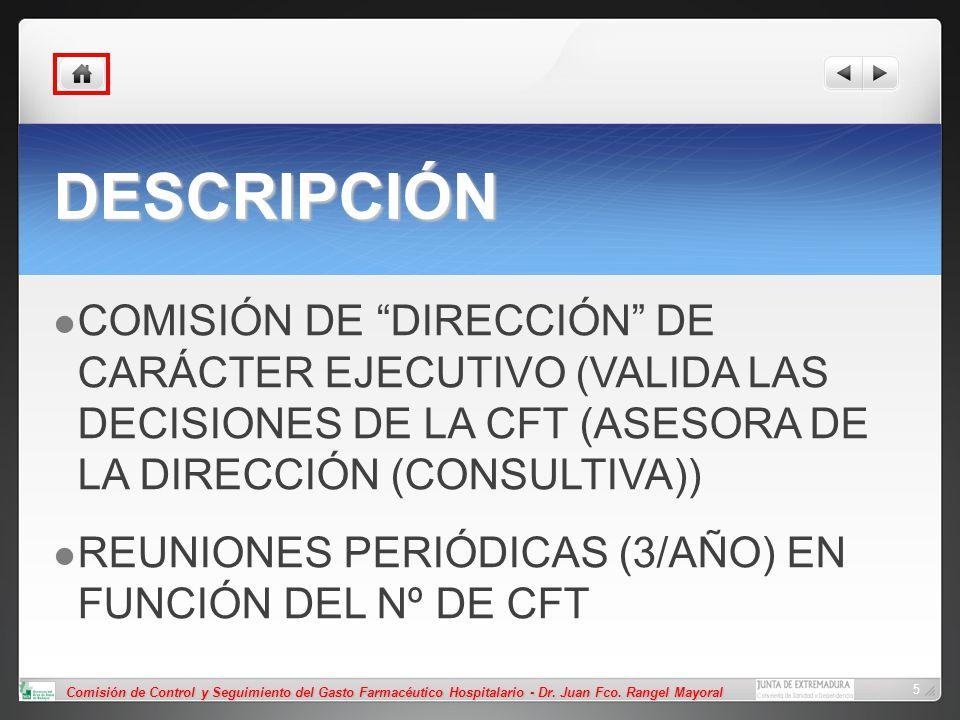 DESCRIPCIÓN COMISIÓN DE DIRECCIÓN DE CARÁCTER EJECUTIVO (VALIDA LAS DECISIONES DE LA CFT (ASESORA DE LA DIRECCIÓN (CONSULTIVA))
