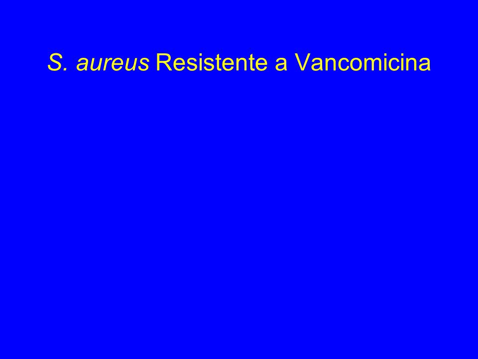 S. aureus Resistente a Vancomicina