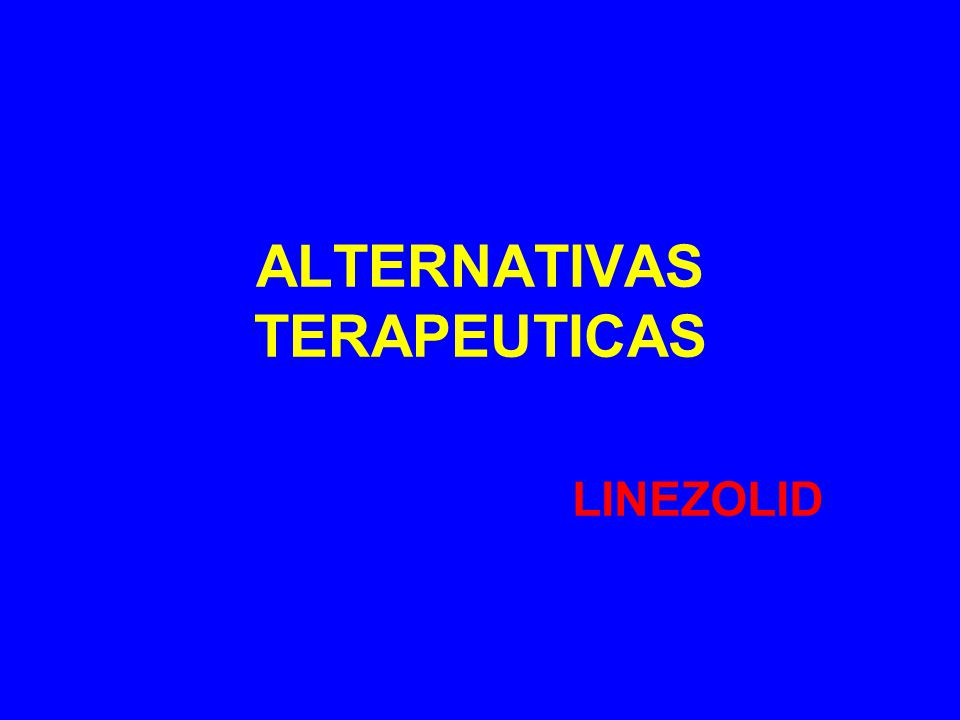 ALTERNATIVAS TERAPEUTICAS