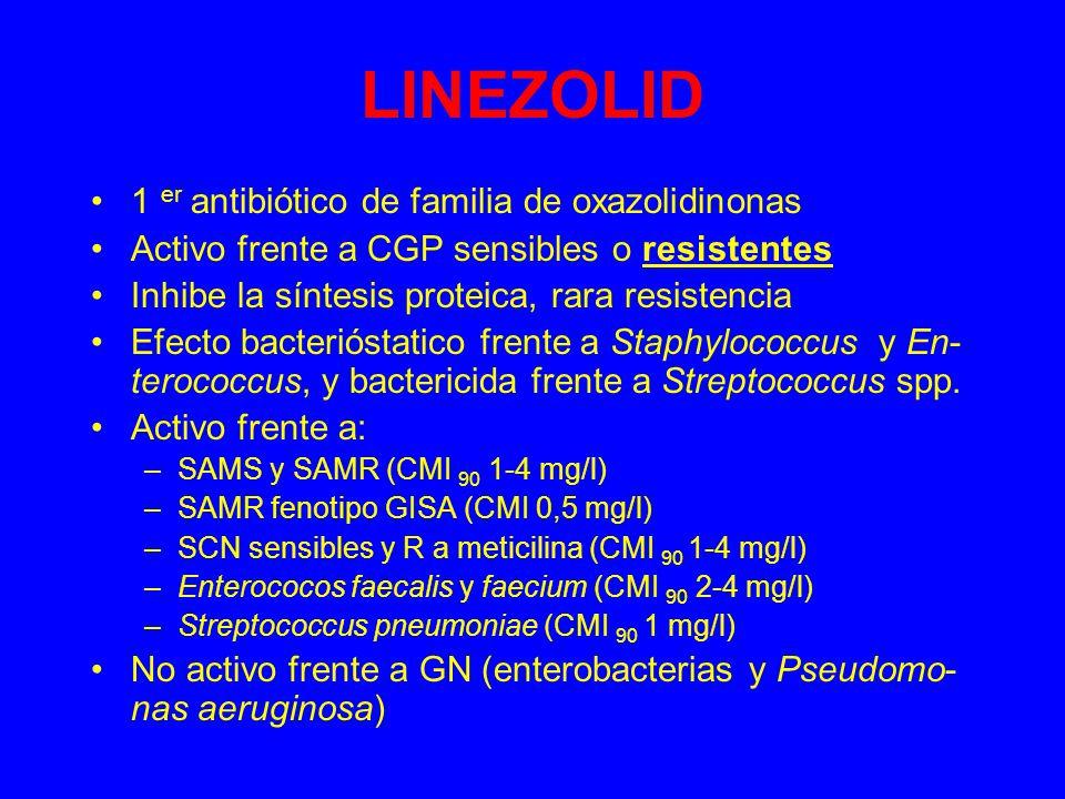 LINEZOLID 1 er antibiótico de familia de oxazolidinonas