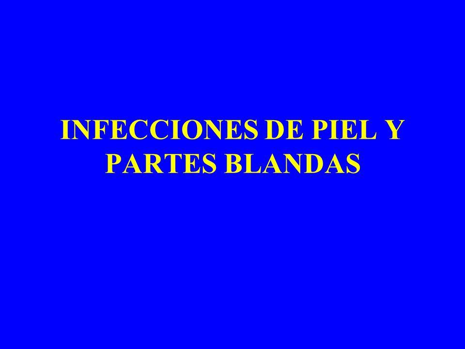 INFECCIONES DE PIEL Y PARTES BLANDAS