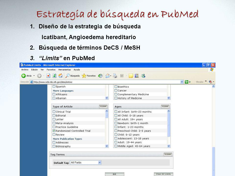 Estrategia de búsqueda en PubMed