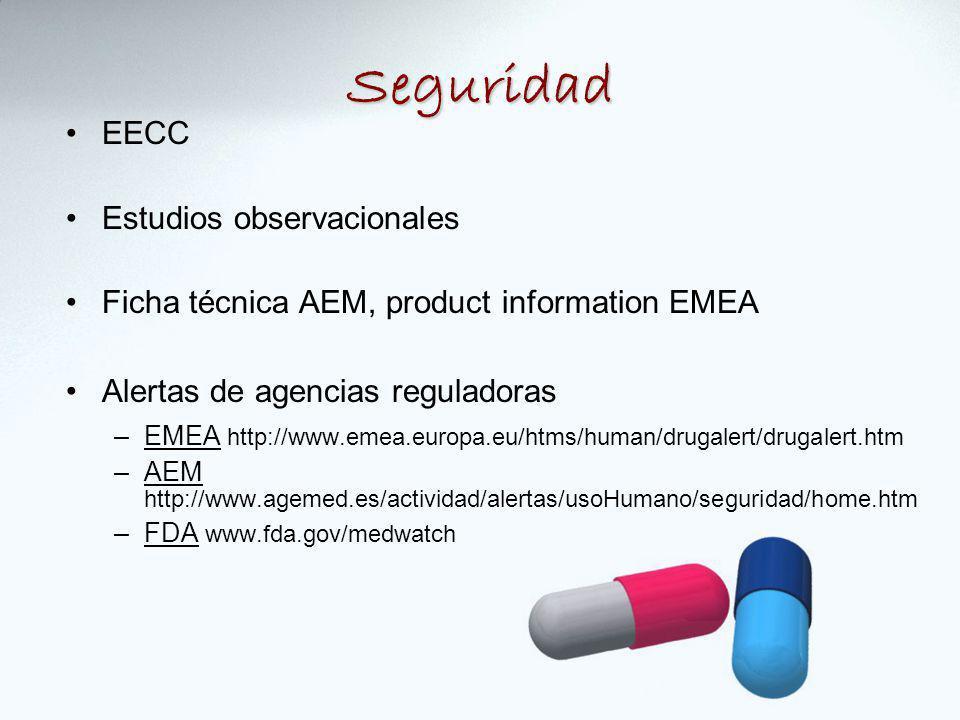 Seguridad EECC Estudios observacionales