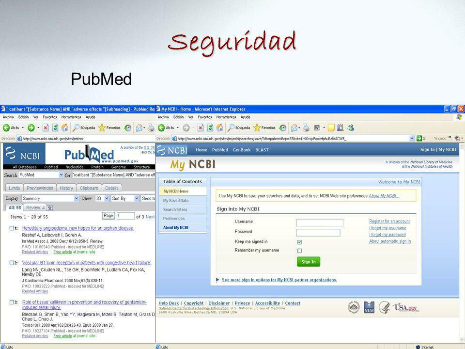 Seguridad PubMed