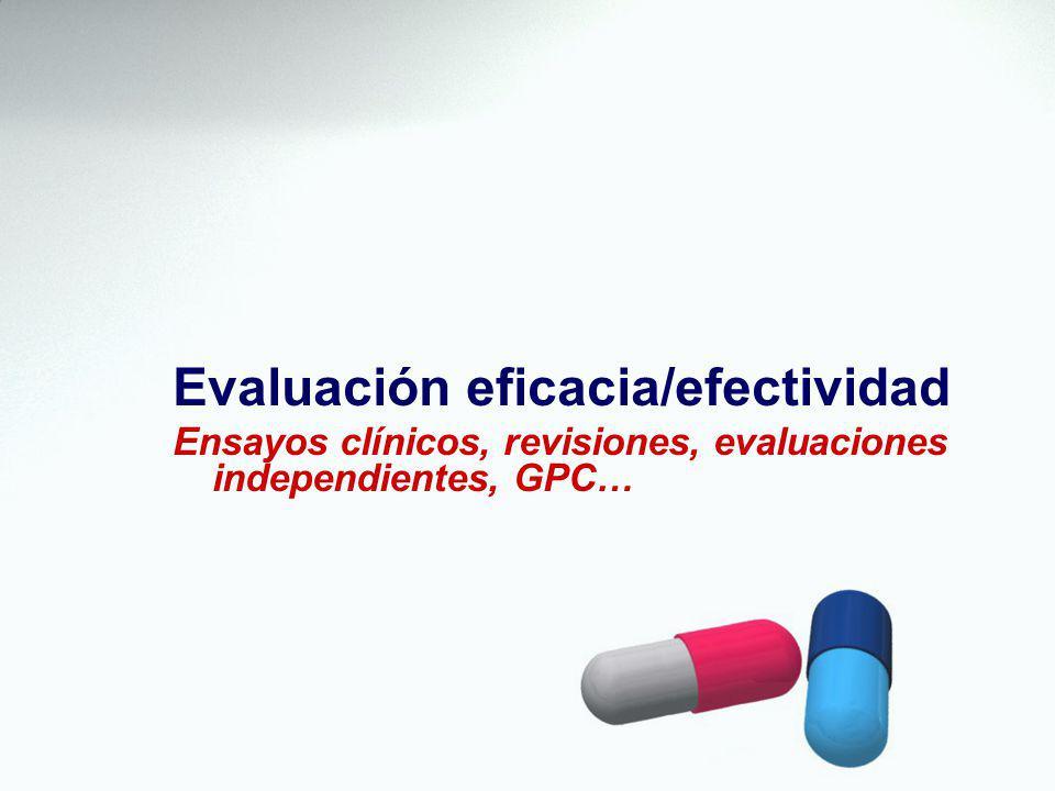 Evaluación eficacia/efectividad