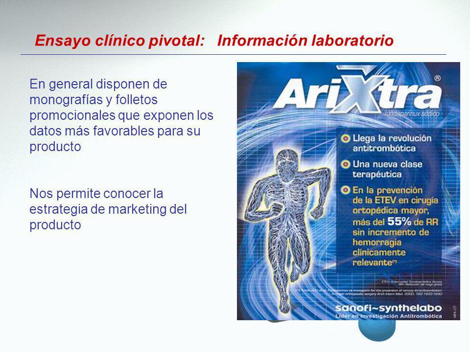 Ensayo clínico pivotal: Información laboratorio